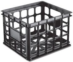 Sterilite Storage Crate (Black) #srcvinyl #vinylrecordstorage www.srcvinyl.com