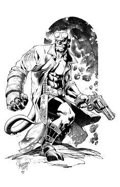 Hellboy by knockmesilly.deviantart.com on @deviantART