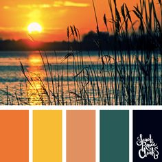Beautiful sunset color scheme - I love the warm atmosphere in this color combination! | Click for more color palettes inspired by beautiful landscapes and other coloring inspiration at http://sarahrenaeclark.com | Colour palettes, colour schemes, color therapy, mood board, color hue