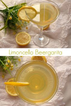 Limoncello Beergarita recipe - just like a refreshing lemon margarita, but way better! The perfect spring cocktail | www.pinkrecipebox.com
