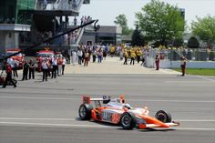 William Rast car in memory of Dan Wheldon at the Indianapolis Motor Speedway. Bryan Herta Autosport, Dan Wheldon by IZOD Ind..