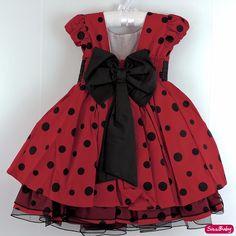 Ladybug Girl, Ladybug Party, Dog Dresses, Girls Dresses, Summer Dresses, Flower Girl Dresses, Sewing Patterns For Kids, Sewing For Kids, Dress Cake
