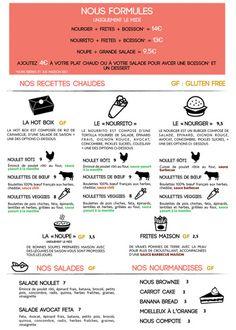 Carte de notre restaurant