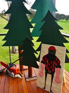 Lumberjack themed 2nd birthday party via Kara's Party Ideas KarasPartyIdeas.com Cake, favors, desserts, printables, and more! #lumberjack #lumberjackparty