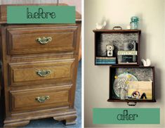 how to make wall units out of old furniture - Google Search