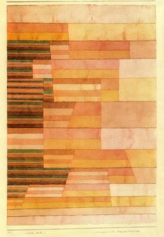 """Monument à la frontière du Pays Fertile"" de Paul Klee (1879-1940, Switzerland)"