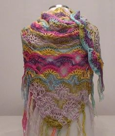 Beautiful mohair shawl.