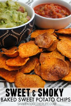 We LOVE these sweet and smoky baked sweet potato chips - they are a great way to snack without all the calories and they are super crispy!