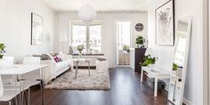 Small areas of the day: a double studio apartment fully white