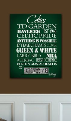 Boston Celtics Ready to Hang Standout by SportingStandouts on Etsy, $60.00