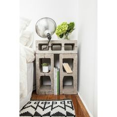 10 Ways to Make Cinderblock Furniture (That Doesn't Look Totally Terrible) found on Polyvore