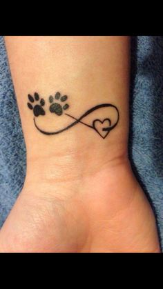 Thinking about getting an infinity tattoo? Before you do, you'll want to check out these infinity tattoo designs to use as inspiration for your own. Trendy Tattoos, Small Tattoos, Tattoos For Pets, Tattoos For Dog Lovers, Pet Lovers, Popular Tattoos, Cute Tattoos For Girls, Amazing Tattoos For Women, Tattoos For Sisters