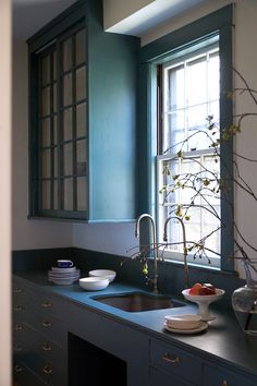 Farrow & Ball Inchyra Blue | Imagine this color in better light and only on bottom cabinets