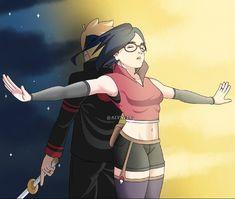 Boruto And Sarada, Naruko Uzumaki, Naruto Shippuden Sasuke, Naruto Art, Anime Kiss, Anime One, Cr7 Wallpapers, Boruto Characters, Boruto Next Generation