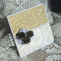 Zlatý DVD obal s ružami  #svadba #svadobny #svatba #handmade