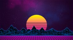 Synthwave, New Retro Wave, neon, Digital art wallpaper