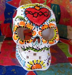 Sugar Skull Candle Luminaria for Day of the Dead and Year Round
