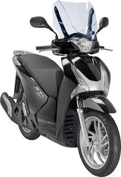 Le Honda Sh 125i est le premier scooter à en profiter (28 x 36,5 cm) 49cc Moped, 125cc Scooter, Automobile, Honda Motors, Scooters, Motorbikes, Motorcycle, Street, Vehicles