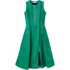 ドレス ❤ liked on Polyvore featuring dresses, dior and green dress