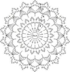 crochet mandala pattern Nem rhet el lers a fnykphez. Crochet Doily Diagram, Crochet Mandala Pattern, Crochet Circles, Crochet Doily Patterns, Crochet Chart, Thread Crochet, Crochet Doilies, Crochet Flowers, Crochet Stitches