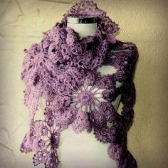 Gone With the Wind / Crochet  Lilac Lavander Shawl by lilithist, $125.00