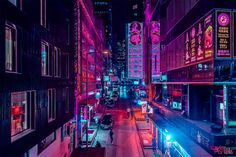 Belgian Photographer Xavier Portela Captures Asian Cities Bathed in a Neon Pink Glow Cyberpunk City, Ville Cyberpunk, Cyberpunk Aesthetic, Neon Aesthetic, Vaporwave, Memes Lindos, Neon Noir, Neon Nights, My Pool