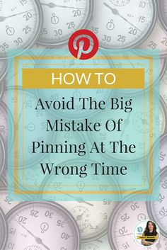 Avoid The Big Mistake of Pinning at The Wrong Time! While it's important to pin when you're target audience might be on Pinterest, as a Pinterest account manager I can tell you that it's simply not black and white.  Since Pinterest came out with the smart feed it has gotten a lot trickier to decipher when the best days and times to pin are. Learn more at http://www.whiteglovesocialmedia.com/how-to-pick-the-best-days-times-to-pin-on-pinterest/ | Pinterest Marketing Expert Tips by Anna Bennett