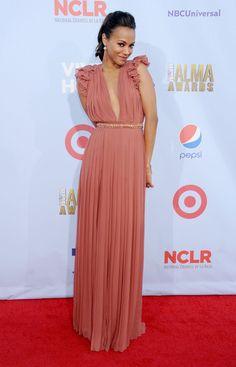 Zoe Saldana wore Resort 2013 Gucci at the 2012 ALMA Awards in Pasadena, CA