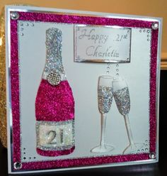 Champagne Glasses stamp by Chloe Endean Champagne Bottle designed by me. Stamps By Chloe, 21st Birthday Cards, Champagne Glasses, Bottle Design, Handmade Cards, Wedding Cards, Cardmaking, Fun Stuff, Card Ideas
