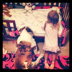 ❤ Sometimes .... we forget what a fundamental part of our lives that our fur babies become. They are there for every step, every event, every good night kiss. And in this case, goodnight prayers. Our babies too, forever. ❤ Posted on English Bulldogs With Love