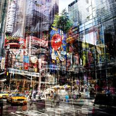 Laurent Dequick: Layers of Vibrant Movement in New York and Berlin - My Modern Metropolis A Level Photography, Double Exposure Photography, Photography Projects, Street Photography, Landscape Photography, Art Photography, Photomontage, Multiple Exposure, Multiple Images
