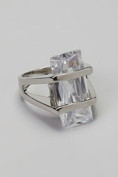 Silver Simulated Diamond Ring
