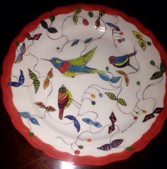 Plato cerámica pintada a mano