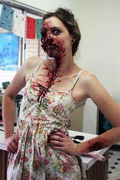 zombie makeup girl