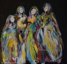 Strong woman - mother`s Surrealism Painting, Meet The Artist, Acrylic Paintings, Book Art, Original Art, Strong, Artists, Sculpture, Ceramics