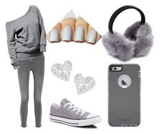 """Gray shadow"" by cartergg ❤ liked on Polyvore featuring mode, MiH Jeans, Converse, OtterBox et Vivienne Westwood"