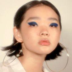 """fleurisshing is part of eye-makeup - driflloon """"blue daze mei yue for sukeban magazine eu online """" Makeup Inspo, Makeup Art, Makeup Inspiration, Beauty Makeup, Eye Makeup, Hair Makeup, Hair Beauty, Makeup Ideas, Makeup Monolid"""