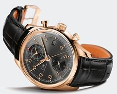 IWC Portuguese Chronograph Classic Ref 3904 Red Gold Slate Dial
