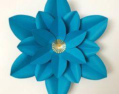 PDF Paper Flower Template with Base, DIGITAL Version - The Dagger - Original Design by Annie Rose