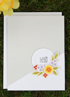 Dawn Woleslagle for Wplus9 featuring Fresh Cut Florals stamps and dies.