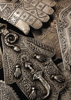 Silver protective Khamas amulets from the Magreb