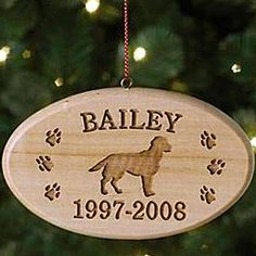 Dog Breed Memorial Ornament