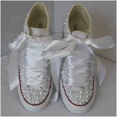Beautiful Wedge Pearl Wedding Converse. All over pearls converse   wedding  converse    wedge 0ab0d94dbb