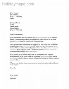 awesome Recommendation letter sample