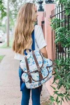 Floral backpack love