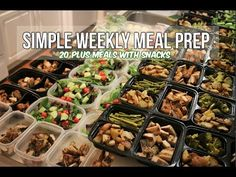 Simple Weekly Meal Prep - 20 Plus Healthy Meals With Snacks - YouTube