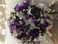 Victorian Halloween Wreath (black and purple)  Christian Rebollo