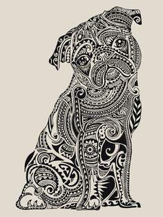 Polynesian Pug  Canvas Print