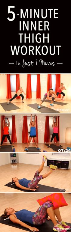 A 5-Minute Workout For Slimmer Inner Thighs - Forget the beach cover-up! Feel proud showing off your thighs with this five-minute workout. It combines cardio and strengthening moves to target your inner and outer thighs instantly — your upper legs are guaranteed to be on fire by the end.