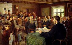 Nikolai Bogdanov-Belsky - Sunday Reading in Rural Schools